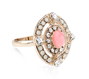 Accesorize coral ring