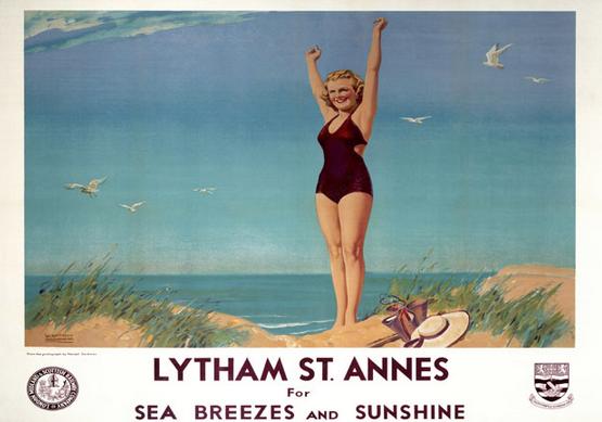 Lytham St Annes retro poster