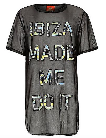 RI Black Mesh Ibiza T-Shirt