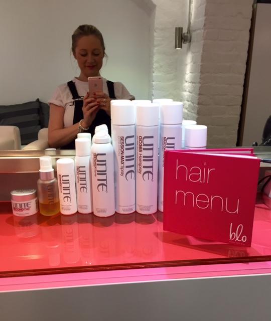 Blo Hair Menu & products