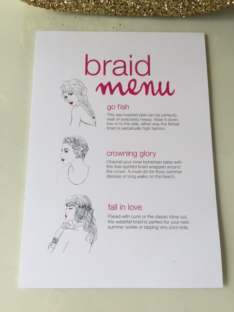 Blo Braid Menu