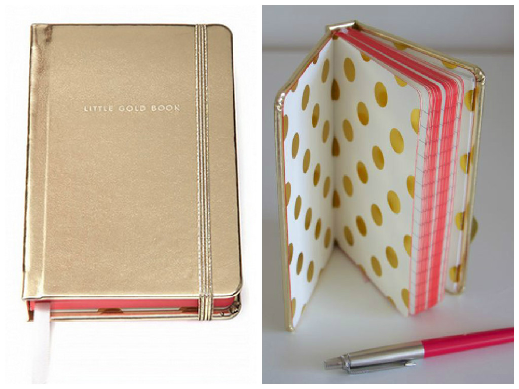 kate spade new york gold book