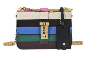 Valentino B-Rockstud Stripes Bag