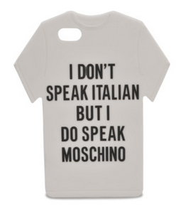 Moschino iPhone 5 I Don t Speak Cover