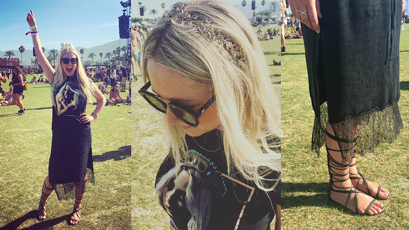 Sarah Woo Coachella style – a little rock chic